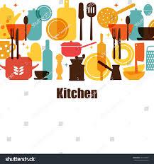 vector set kitchen utensils cooking kitchen stock vector 541597855