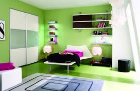 Bedroom  Green Curtain Green Wall Paint Colors Pink Wall Paint - Cool painting ideas for bedrooms