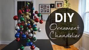 Diy Chandelier Ideas by Diy Ornament Chandelier Christmas Decoration Ideas Youtube Loversiq