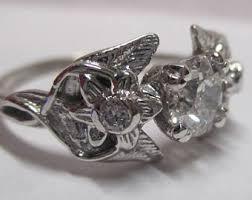nickel free white gold elvish engagement ring etsy