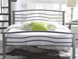 bedroom modern queen platform beds slat wood material metal