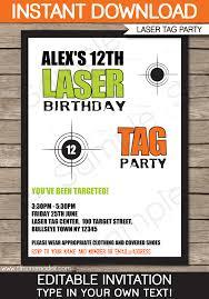free printable laser tag birthday party invitations cimvitation