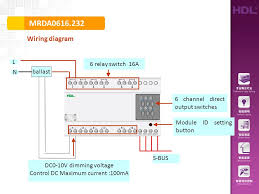 mrda wiring diagram s bus module id setting button ballast l n dc0