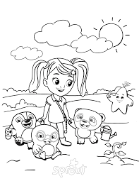 coloring pages attractive sprout coloring pages pbs halloween