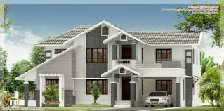 Four Bedroom Houses Design Style Modern Sloping Roof Nice Home Building Plans Online