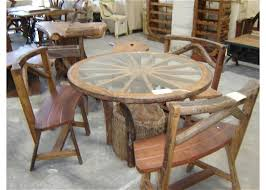 Dining Room Sets With Wheels On Chairs Wagon Wheel Table Set Buy Dining Room Sets Product On Alibaba