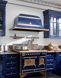 royal blue kitchen design carved wood kitchen cabinets