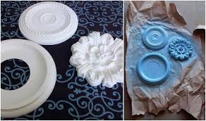 Cheap Ceiling Medallions by Feathers Flights Sewing Blog Circle Decor On A Cinder Block Wall