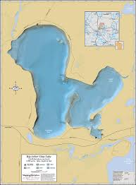 map of arbor big arbor vitae lake wall map