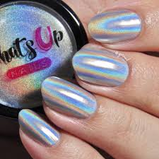 amazon com whats up nails holographic powder for rainbow