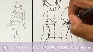ink drawing plus size female figure university of fashion