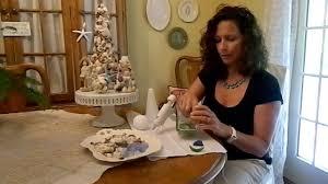 how to create a seashell sea glass topiary tree