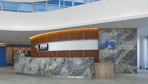 Granite Reception Desk Granite Defines Reception Area At Bluecross Blueshield Of