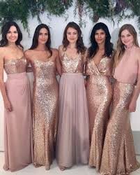 bridesmaid dress gold sequin mismatched bridesmaid dresses cheap custom