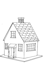 houses coloring pages