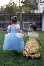 cinderella and belle princess dress costume pattern and tutorial
