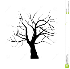outline of tree without leaves free coloring pages on art