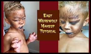 easy werewolf halloween makeup youtube
