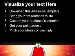 applause the winner with award powerpoint templates ppt