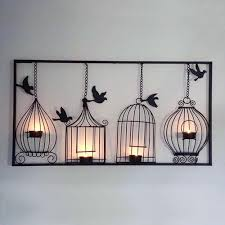 birdcage tlight metal wall