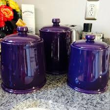 purple kitchen canister sets purple kitchen canisters dezinox stainless steel set of 3 jars