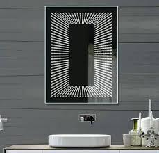 bathroom infinity mirror rectangle bathroom mirrors infinity bathroom mirror rectangular
