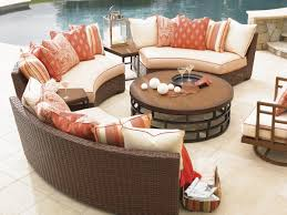 Circular Patio Seating Furniture Curved Couch Rounded Back Sofa Circular Sectional Sofas