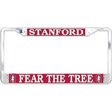stanford alumni license plate frame stanford fear the tree license plate frame stanford