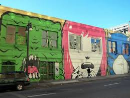 49 of san francisco s most awesome murals mapped police tourists and prostitutes every time they encounter fear the mural was painted in 2009 as part of a public art exhibit called