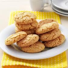 thanksgiving cookies recipes lemon crisp cookies recipe taste of home