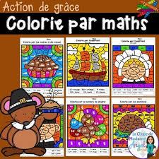 themed l l de grâce thanksgiving themed color by code math