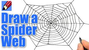 how to draw a spider u0027s web for halloween real easy youtube