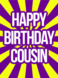happy birthday cousin card birthday u0026 greeting cards by davia