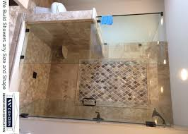 How To Install A Shower Door On A Bathtub Shower Stalls Enclosures Frameless Glass Shower Doors