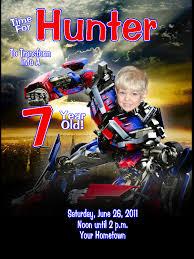 transformers birthday invite cloveranddot com