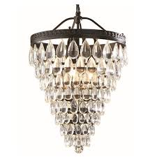 Crystal And Bronze Chandelier Shop Allen Roth Eberline 12 76 In Oil Rubbed Bronze Crystal