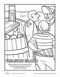 island coloring page scenes from treasure island coloring pages education com