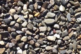 decorative landscape gravel with brown landscape stone wall stone