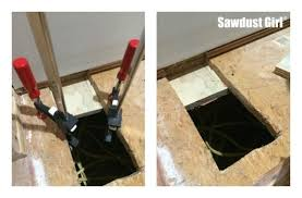 how to cut through subfloor how to patch subfloor sawdust