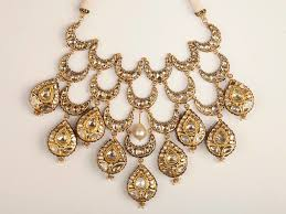 bespoke gold jewellery layered polki necklace mumbai bespoke and