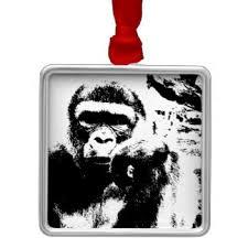 thinking gorilla ornaments keepsake ornaments zazzle