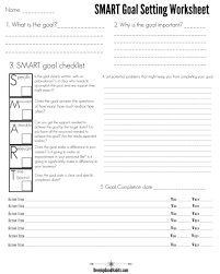 4 free goal setting worksheets u2013 free forms templates and ideas