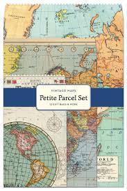 Vintage Map Amazon Com Cavallini 12 Pack Petite Vintage Maps Parcel Set