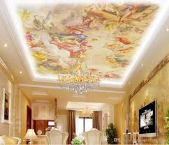 Wall Murals 3d European Style Roof Painting Ceiling Ceiling Wallpaper Mural 3d