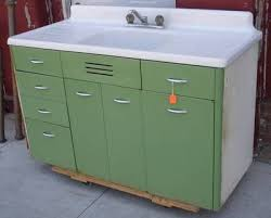 Vintage Retro Metal Kitchen Cabinet Cast Iron Sink EBay Tinny - Retro metal kitchen cabinets