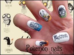 pokemon tim burton style nails by ninails on deviantart