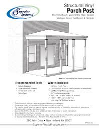 structural vinyl porch posts superior plastic products