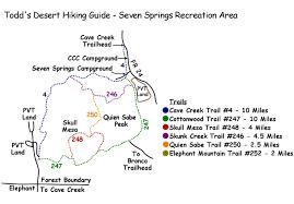 Mesa Az Map Seven Spring Recreation Area Inner Trails