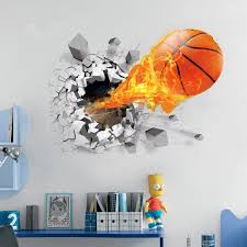 amazon com basketball wall decals sports boys wall decals for