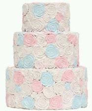 simply shabby chic rose multicolor cake coin piggy bank 3 tiered